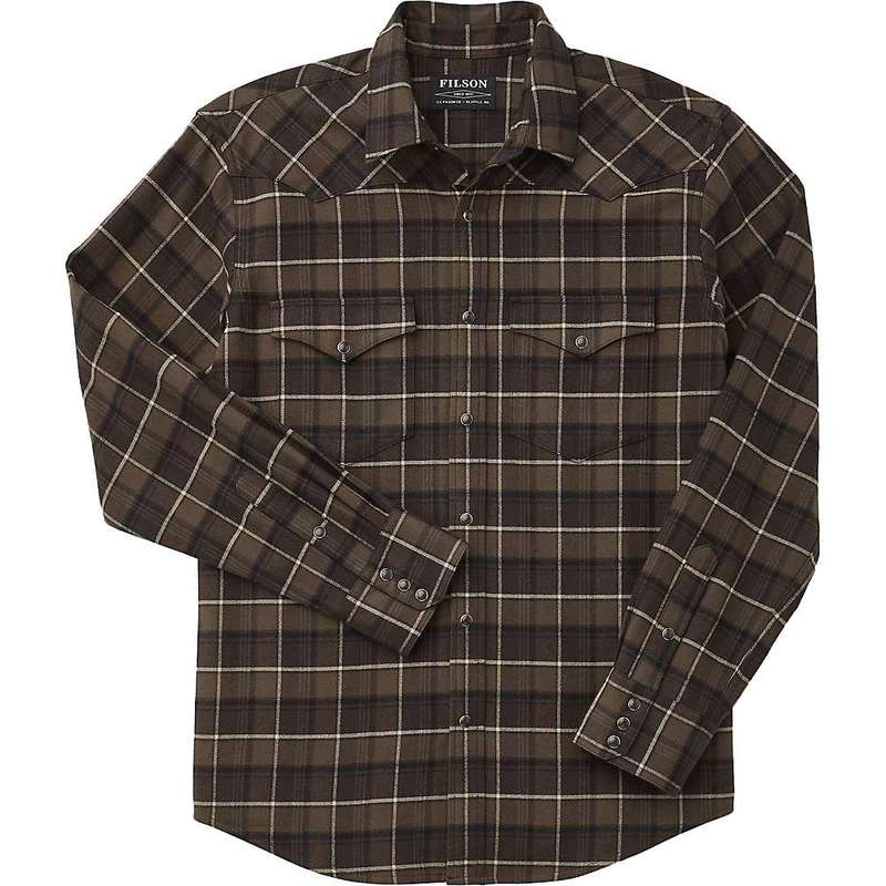 フィルソン メンズ シャツ トップス Filson Men's Western Flannel Shirt Brown / Tan Plaid