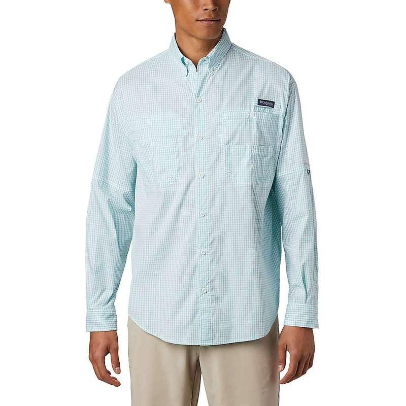 コロンビア メンズ シャツ トップス Columbia Men's Super Tamiami LS Shirt Bright Aqua Gingham