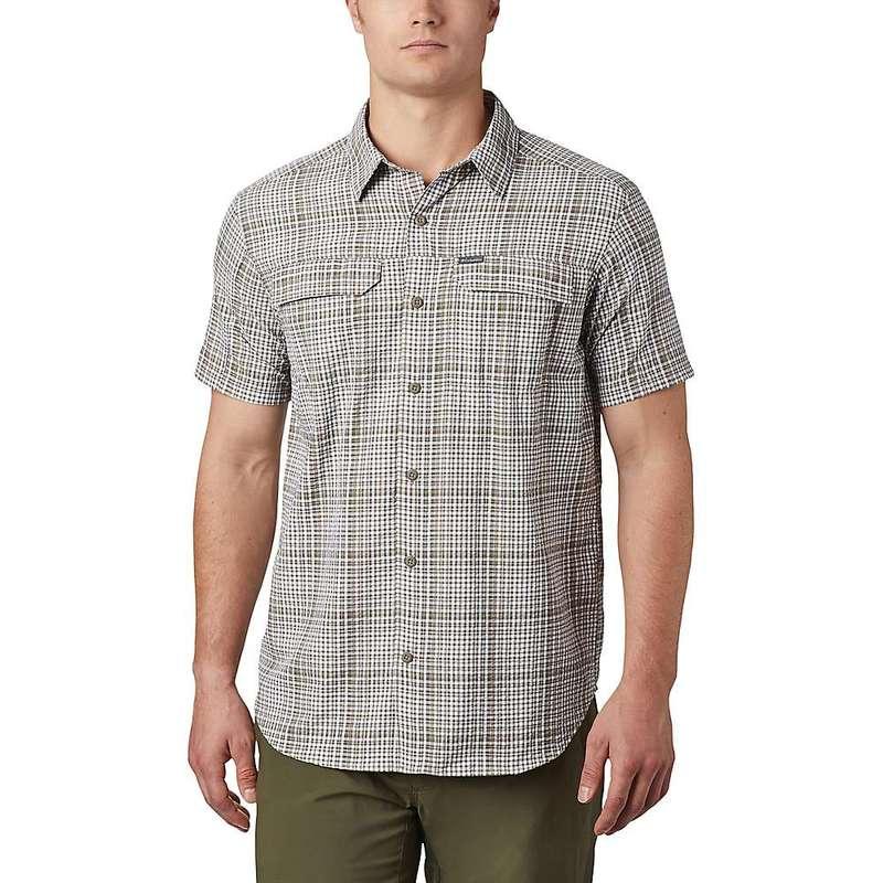 コロンビア メンズ シャツ トップス Columbia Men's Silver Ridge SS Seersucker Shirt Sage Grid Plaid