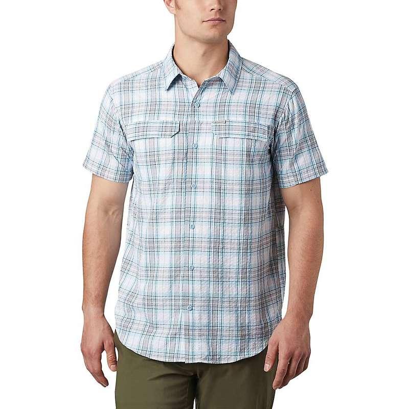 コロンビア メンズ シャツ トップス Columbia Men's Silver Ridge SS Seersucker Shirt Sky Blue Tartan Plaid