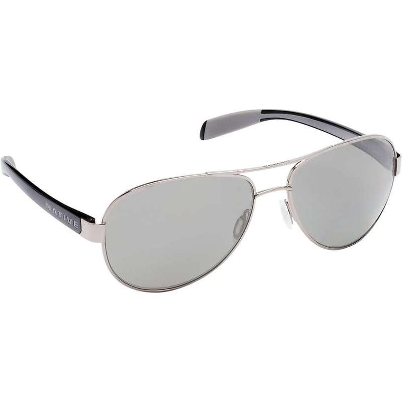 ネイティブ メンズ サングラス・アイウェア アクセサリー Native Patroller Polarized Sunglasses Chrome / Gloss Black / Grey