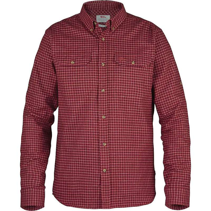 フェールラーベン メンズ シャツ トップス Fjallraven Forest Flannel Shirt Deep Red