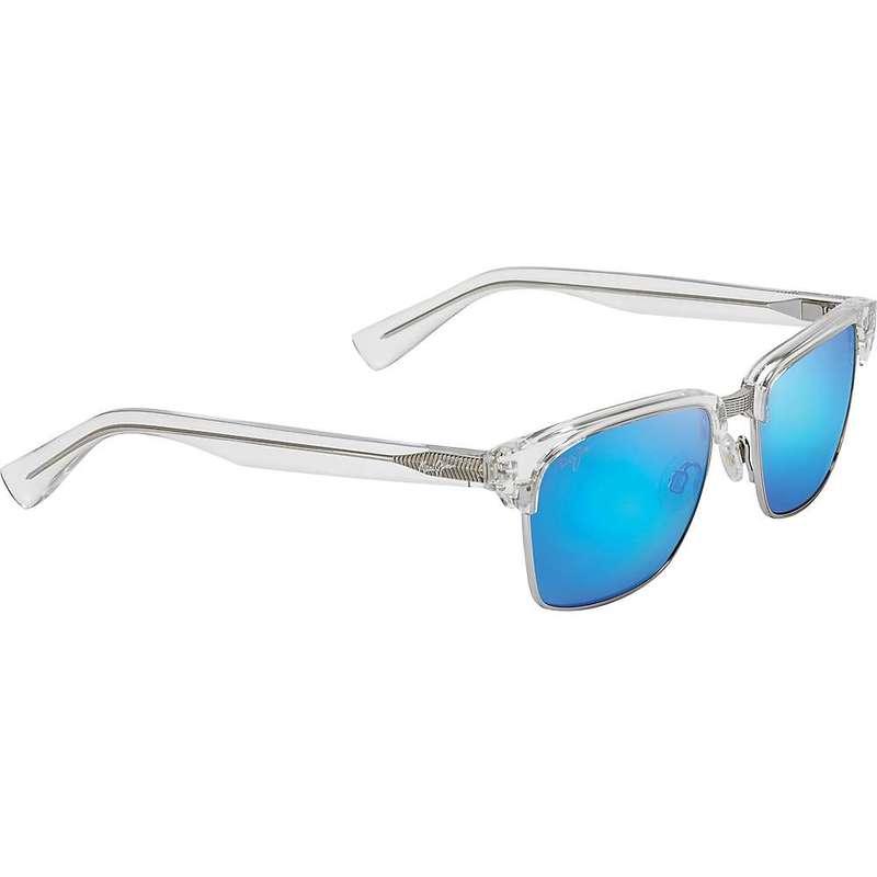 マウイジム メンズ サングラス・アイウェア アクセサリー Maui Jim Kawika Polarized Sunglasses Crystal/Blue Hawaii