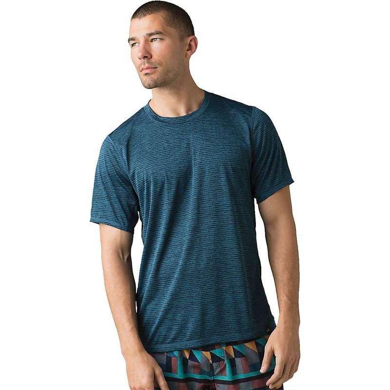 プラーナ メンズ Tシャツ トップス Prana Men's Hardesty SS Shirt Atlantic Stripe