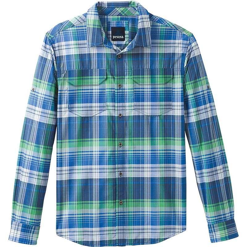 プラーナ メンズ シャツ トップス Prana Men's Citadel Plaid LS Shirt Equinox Blue
