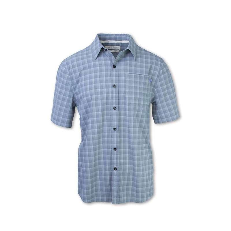 パーネル メンズ シャツ トップス Purnell Men's 4-Way Stretch Quick Dry Plaid Shirt Grey Plaid