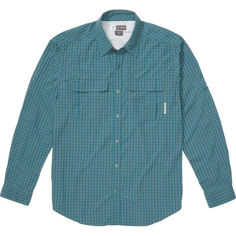 エクスオフィシオ メンズ シャツ トップス ExOfficio Men's BugsAway Halo Check LS Shirt Ponderosa