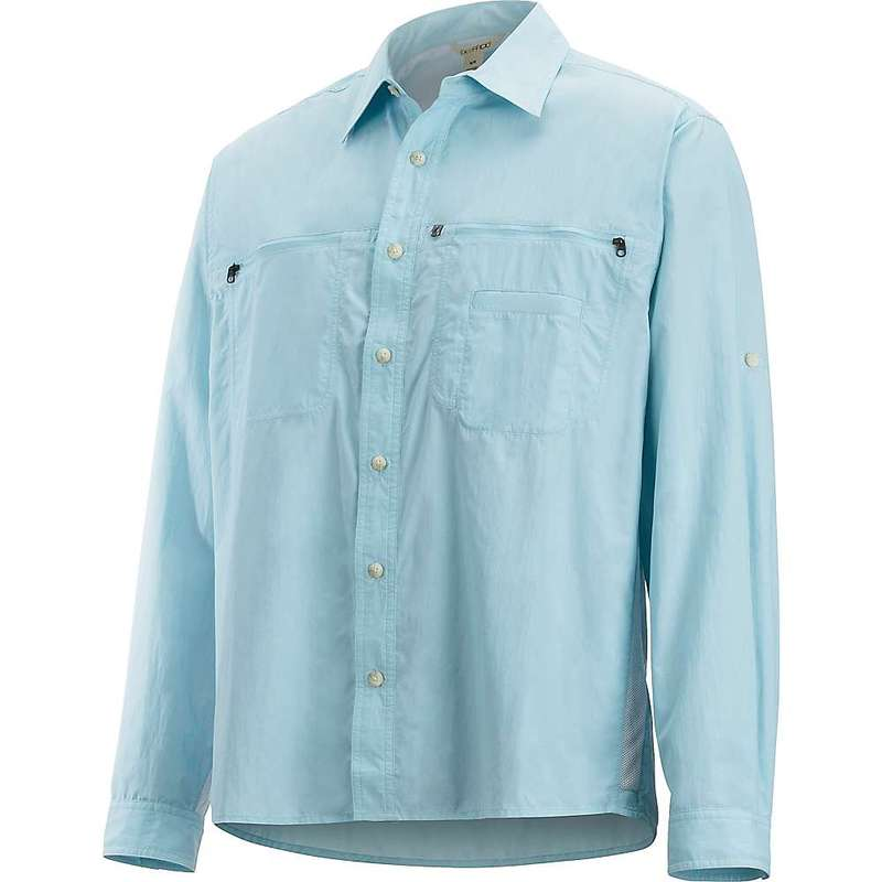 エクスオフィシオ メンズ シャツ トップス ExOfficio Men's Reef Runner LS Shirt Air Blue