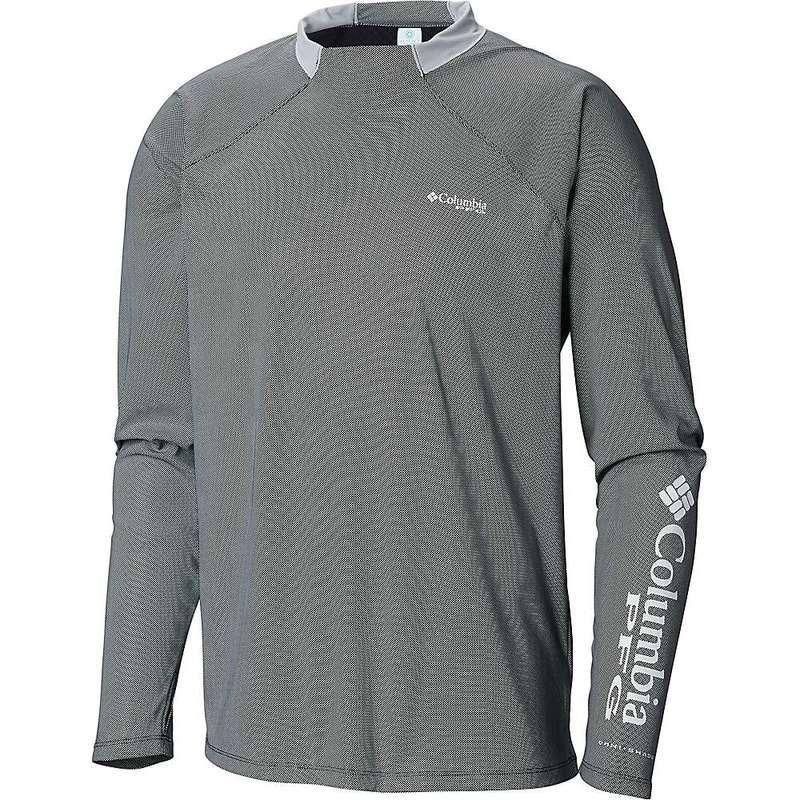 コロンビア メンズ Tシャツ トップス Columbia Men's Terminal Deflector Zero LS Shirt Black / Cool Grey