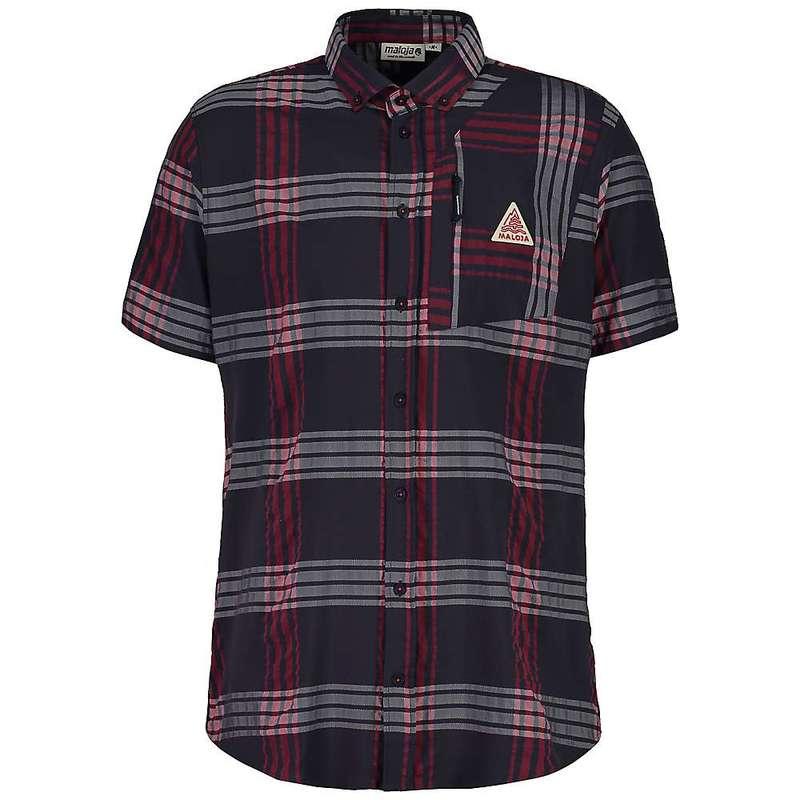マローヤ メンズ シャツ トップス Maloja Men's FalzM. 1/2 Short Sleeve Shirt Mountain Lake Check