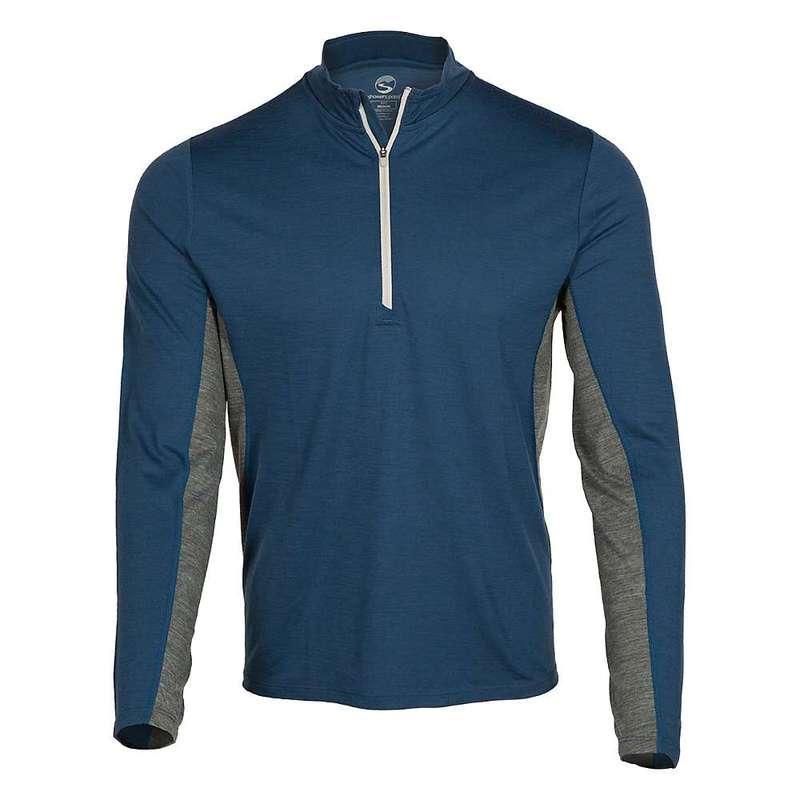 シャワーパス メンズ シャツ トップス Showers Pass Men's Ridgeline Half-Zip Long Sleeve Shirt Alpine Blue