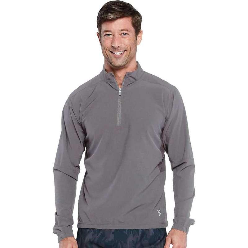 タスクパフォーマンス メンズ シャツ トップス Tasc Men's Air Flex Quarter Zip Jacket Smoked Pearl