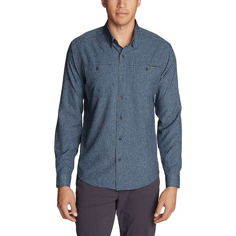 エディー バウアー メンズ シャツ トップス Eddie Bauer Travex Men's Ventatrex LS Shirt Medium Indigo