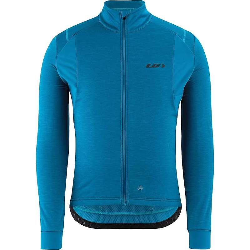 イルスガーナー メンズ シャツ トップス Louis Garneau Men's Thermal Edge Jersey Mykonos Blue