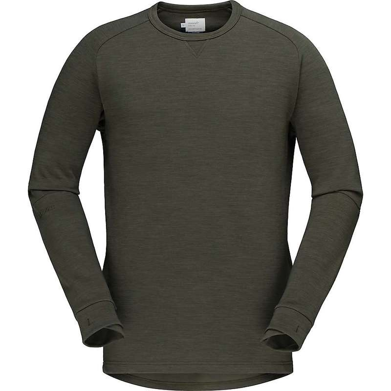 ノローナ メンズ シャツ トップス Norrona Men's Skibotn Crew Neck Top Olive Night