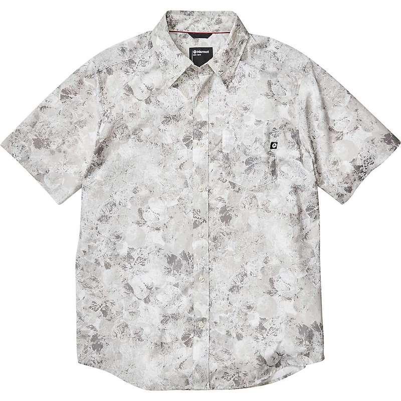 マーモット メンズ シャツ トップス Marmot Men's Bennett Peak SS Shirt Light Grey Leaf Camo
