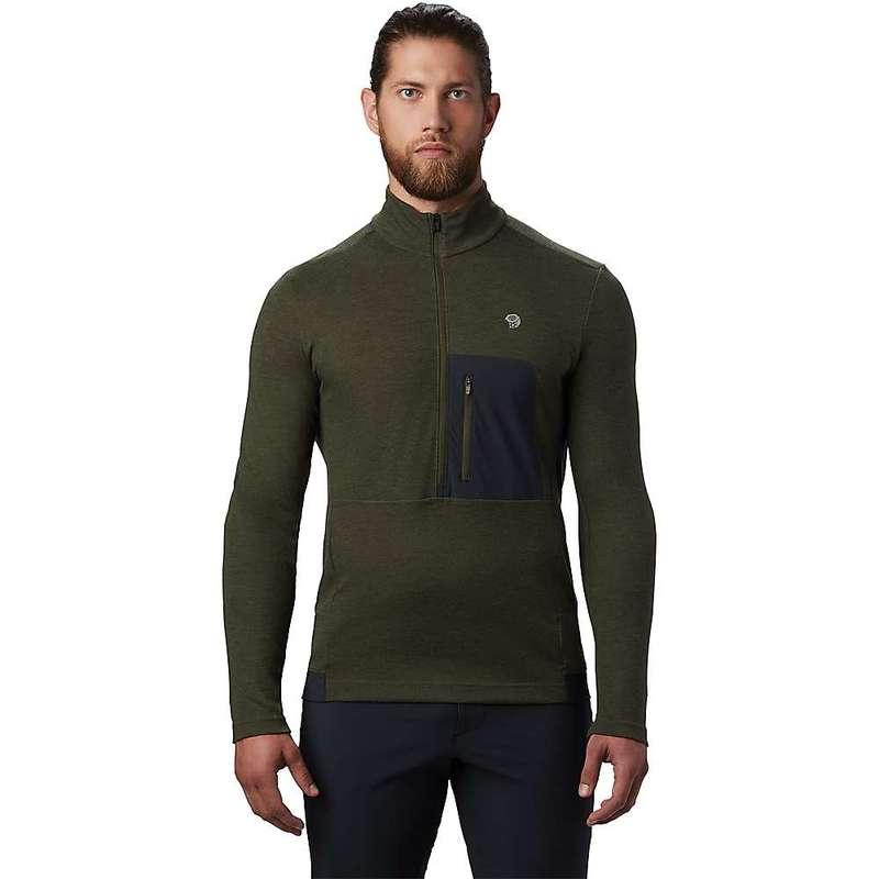 マウンテンハードウェア メンズ シャツ トップス Mountain Hardwear Men's Cragger2 LS 12 Zip Top Dark Army