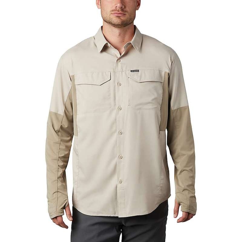 コロンビア メンズ シャツ トップス Columbia Men's Silver Ridge Lite Hybrid Shirt Fossil / Tusk