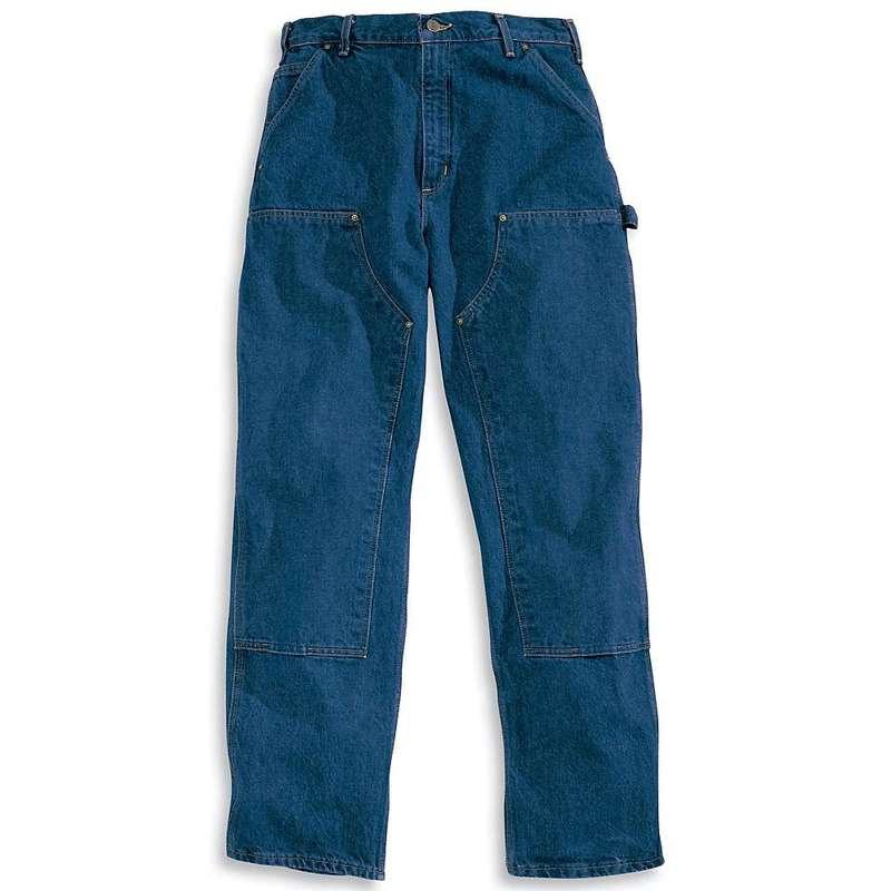 カーハート メンズ カジュアルパンツ ボトムス Carhartt Men's Original Fit Double Front Washed Logger Jean Darkstone