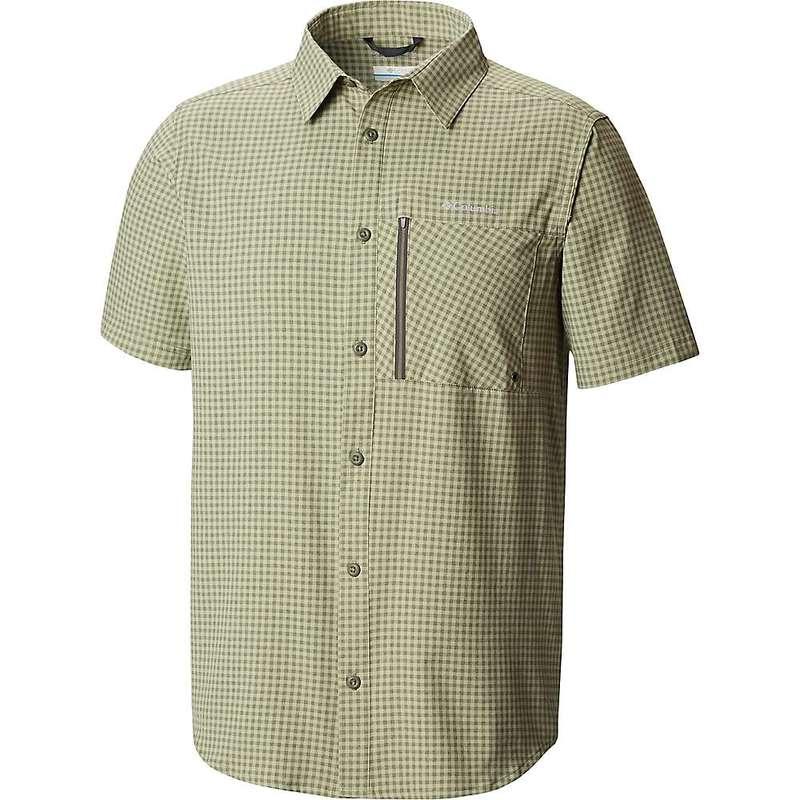 コロンビア メンズ シャツ トップス Columbia Men's Tech Trail SS Shirt Cypress Gingham