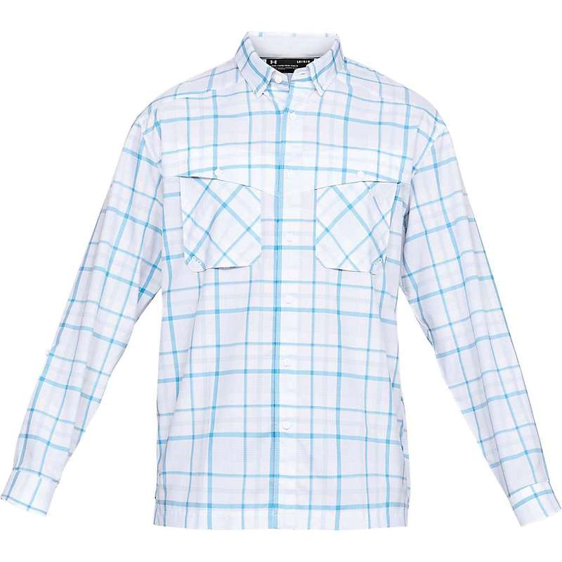 アンダーアーマー メンズ シャツ トップス Under Armour Men's UA Tide Chaser Plaid LS Top White / / Elemental