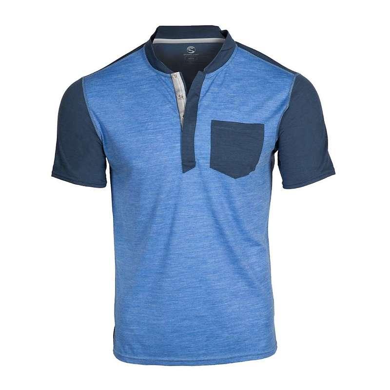 シャワーパス メンズ シャツ トップス Showers Pass Men's Hi-Line Merino Short Sleeve Shirt Strong Blue