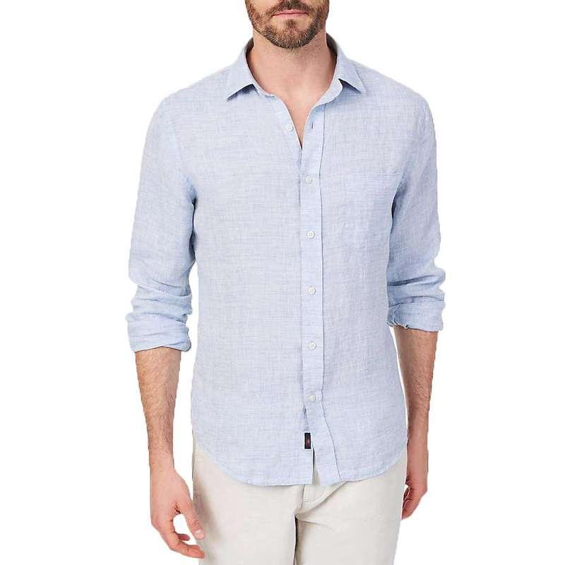 ファレティ メンズ シャツ トップス Faherty Men's Linen AMK Shirt Light Blue Melange