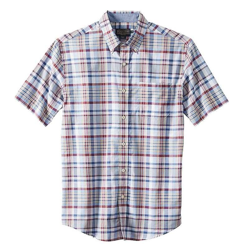 ペンドルトン メンズ シャツ トップス Pendleton Men's S/S Seaside Button Down Shirt Blue Red Plaid