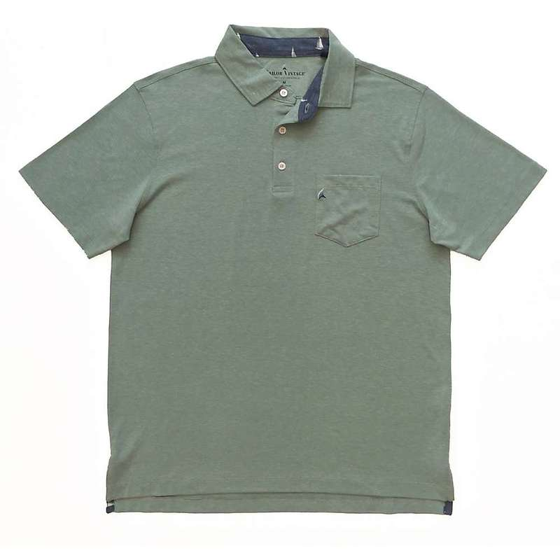 タイラービンテージ メンズ シャツ トップス Tailor Vintage Men's Fast Dry Performance Stretch Polo Green Bay Heather