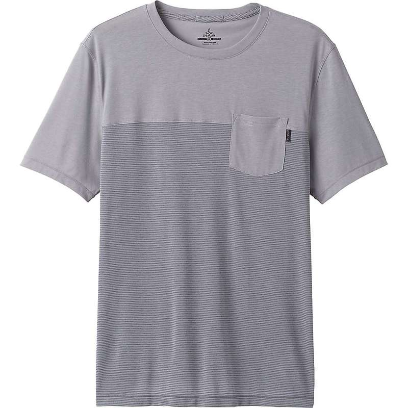 プラーナ メンズ Tシャツ トップス Prana Men's Milo SS Shirt Grey