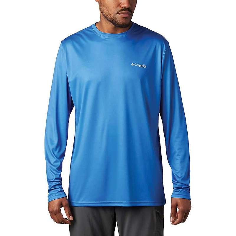 コロンビア メンズ シャツ トップス Columbia Men's Terminal Tackle PFG Fish Flag LS Shirt Vivid Blue / White