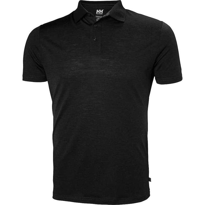 ヘリーハンセン メンズ Tシャツ トップス Helly Hansen Men's HH Merino Light Short Sleeve Polo BLACK