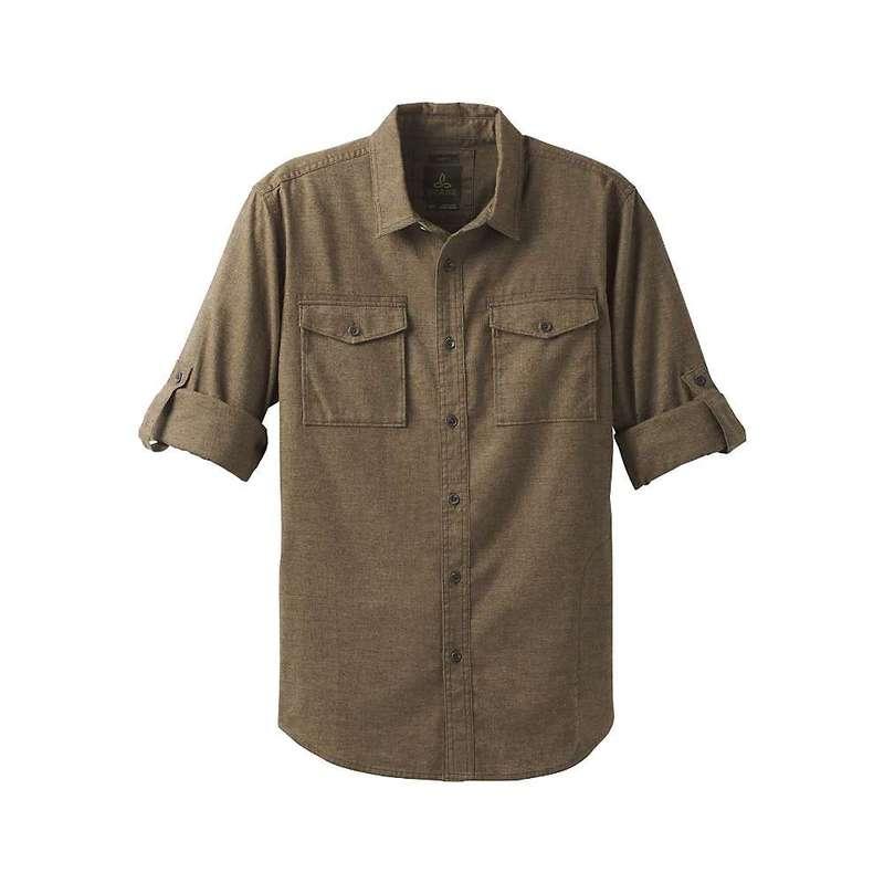 プラーナ メンズ シャツ トップス Prana Men's Merger LS Shirt Cargo Green