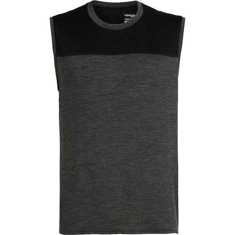 アイスブレーカー メンズ Tシャツ トップス Icebreaker Men's Kinetica Tank Black Heather / Black