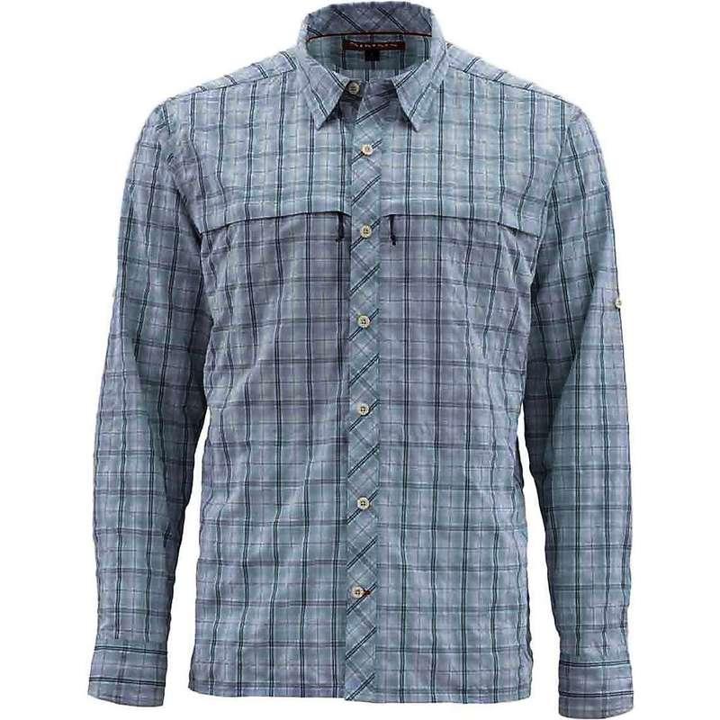 シムズ メンズ シャツ トップス Simms Men's Stone Cold LS Shirt Fog Plaid