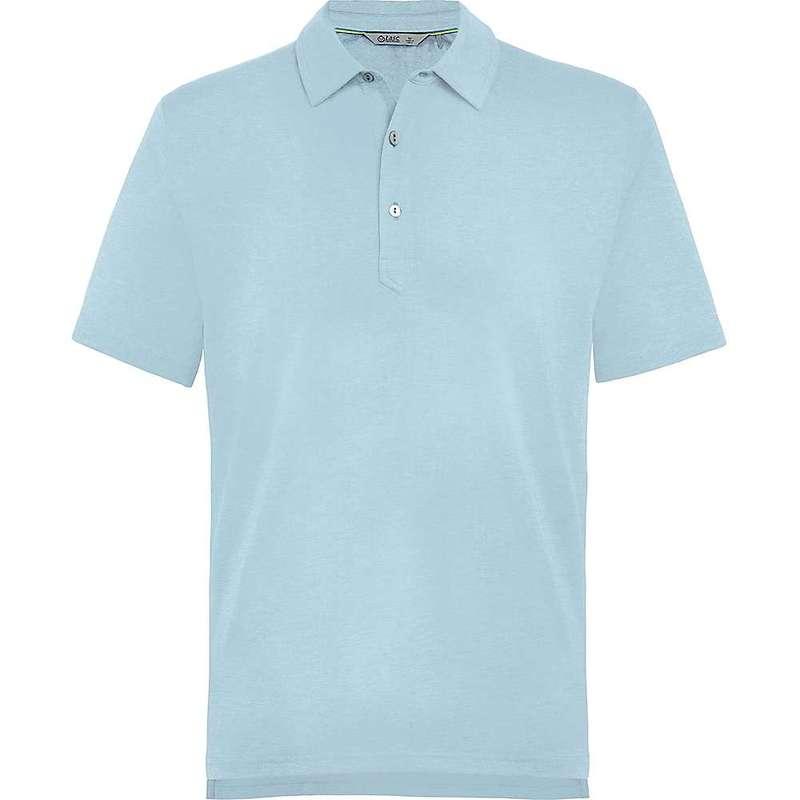 タスクパフォーマンス メンズ シャツ トップス Tasc Men's Air Stretch Polo Cool Blue