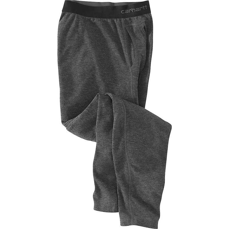カーハート メンズ カジュアルパンツ ボトムス Carhartt Men's Base Force Heavyweight Poly-Wool Bottom (Tall) Black Heather