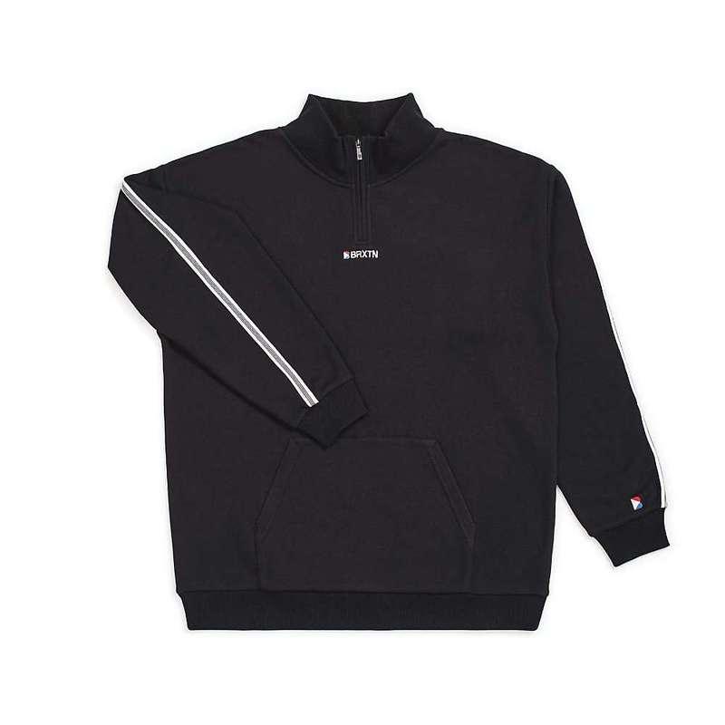 ブリクストン メンズ ニット・セーター アウター Brixton Men's Stowell 1/2 Zip Fleece Pullover Black