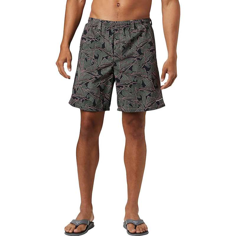 コロンビア メンズ ハーフパンツ・ショーツ ボトムス Columbia Men's Super Backcast 8 Inch Water Short Sorbet Fish Wave Print