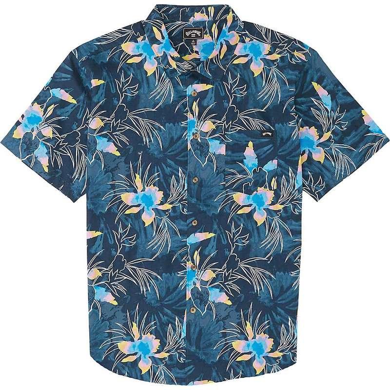 ビラボン メンズ シャツ トップス Billabong Men's Sundays Floral SS Shirt Navy