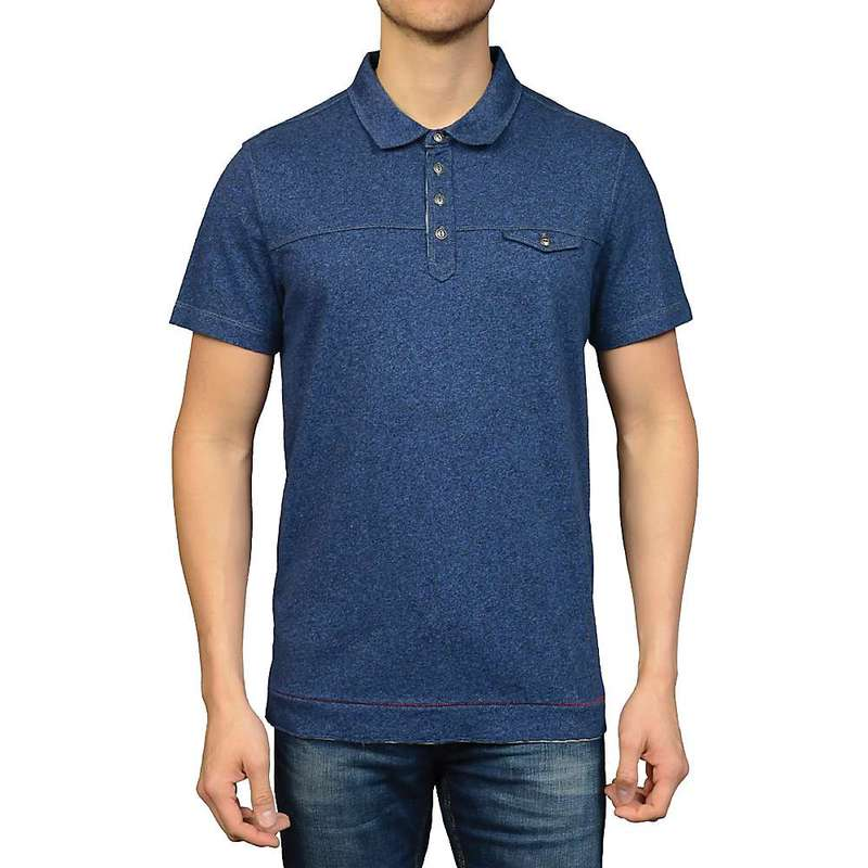 ジェレミア メンズ シャツ トップス Jeremiah Men's Heather Jersey Polo Insignia Heather