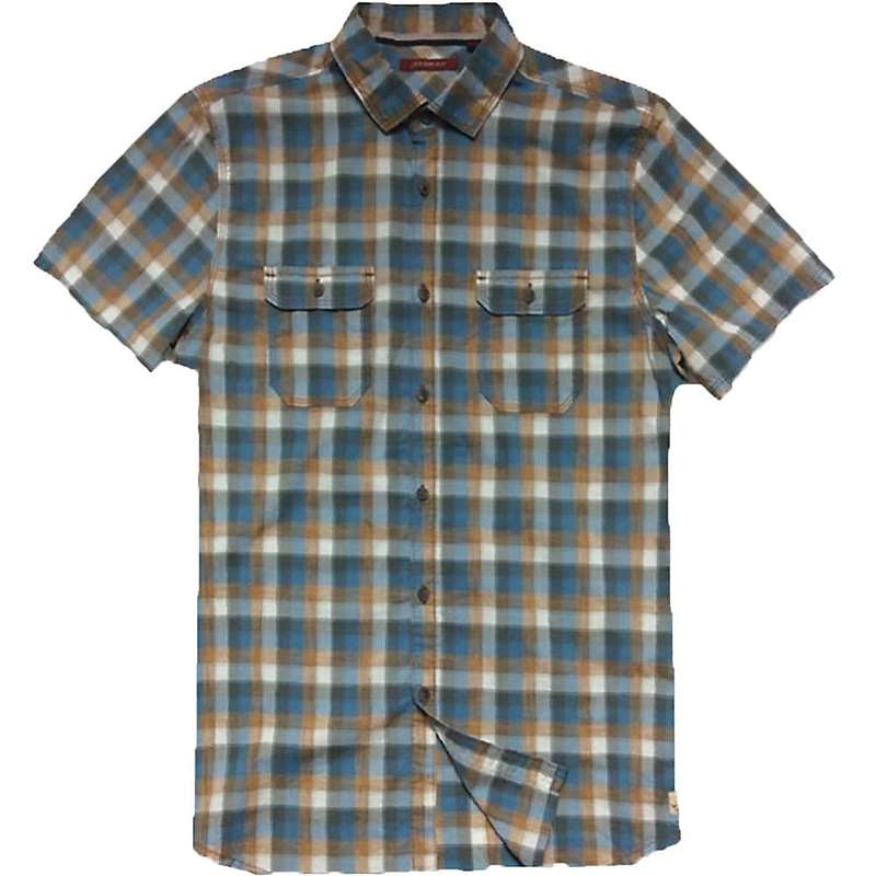 ジェレミア メンズ シャツ トップス Jeremiah Men's Space Dye Plaid S/S Shirt Rosewood