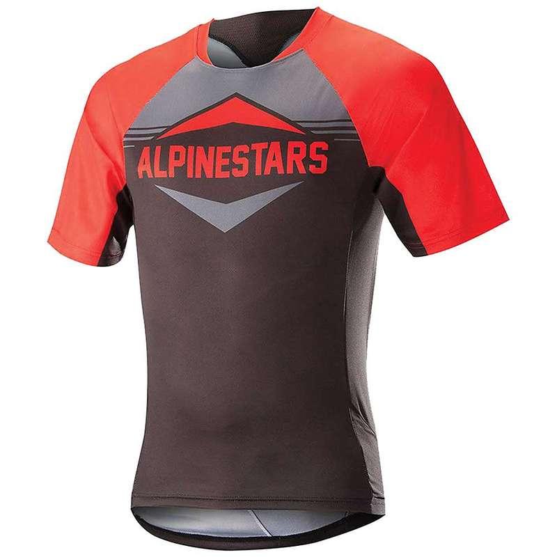 アルパインスターズ メンズ シャツ トップス Alpine Stars Men's Mesa SS Jersey Red / Steel Grey