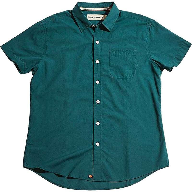 ノーマルブランド メンズ シャツ トップス The Normal Brand Men's Yarn Dye Short Sleeve Woven Atlantic