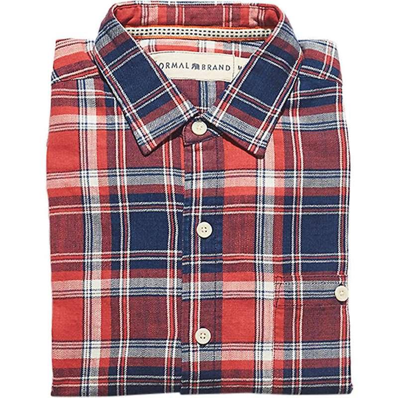 ノーマルブランド メンズ シャツ トップス The Normal Brand Men's Leland Indigo Twill Plaid Shirt Indigo