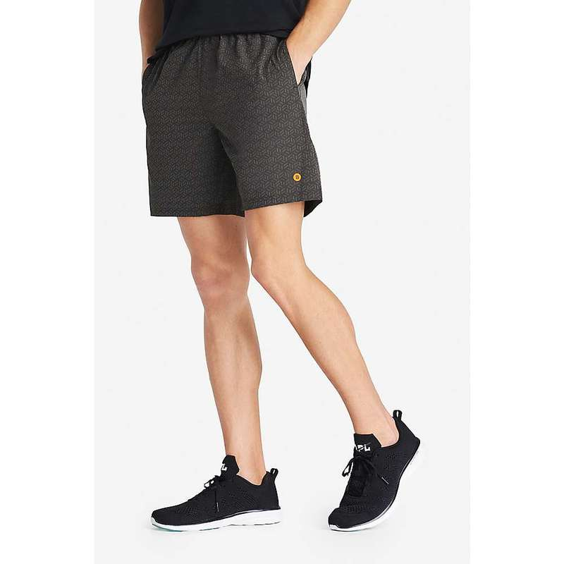ボノボス メンズ ハーフパンツ・ショーツ ボトムス Bonobos Men's 7IN Printed Gym Short - No Liner Reflective Cube Geo
