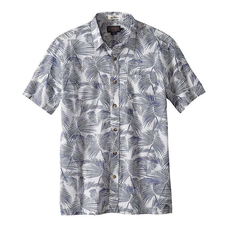 ペンドルトン メンズ シャツ トップス Pendleton Men's Aloha Shirt Blue Palm Leaf Print