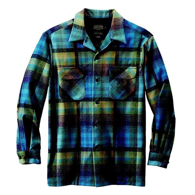 ペンドルトン メンズ シャツ トップス Pendleton Men's Long Sleeve Board Shirt Turquoise Multi Ombre