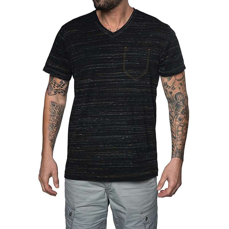 ジェレミア メンズ シャツ トップス Jeremiah Men's Speckler Space Dyed Jersey V Neck Top Black