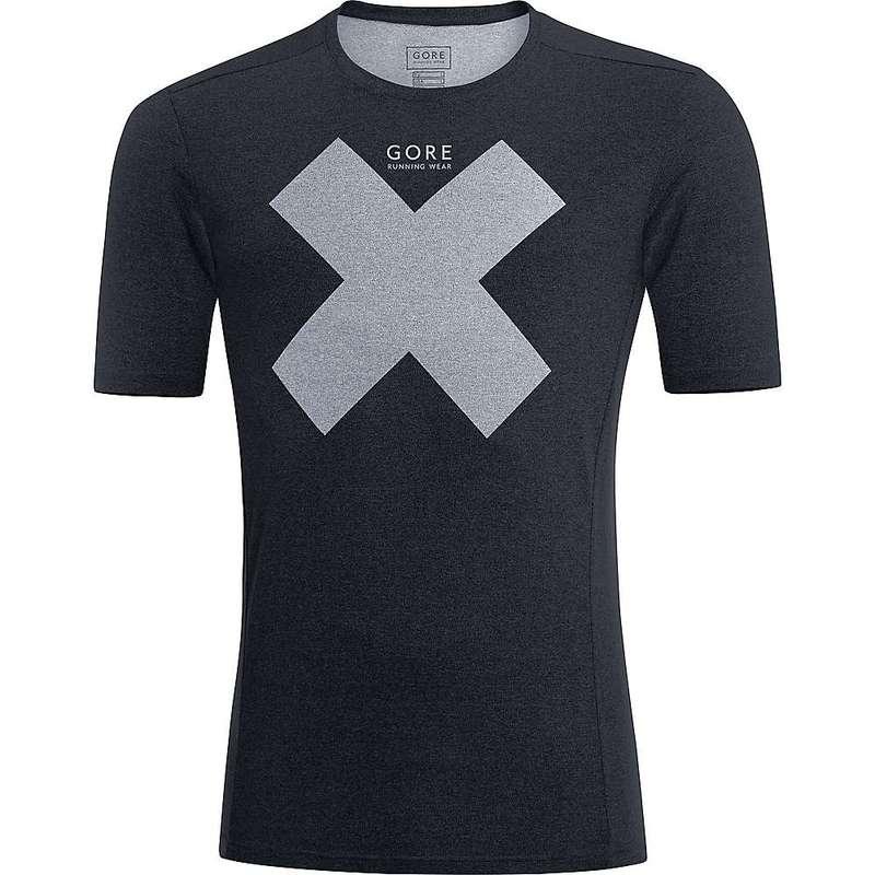 ゴアウェア メンズ Tシャツ トップス Gore Wear Men's Essential Print Shirt Black